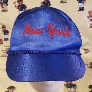 vintage new York satin hat